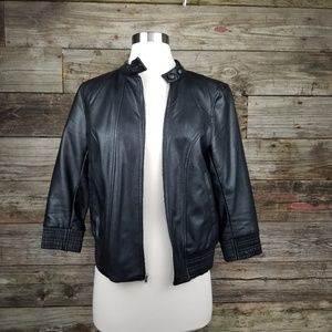 Guess Women's Black Leather jacket S